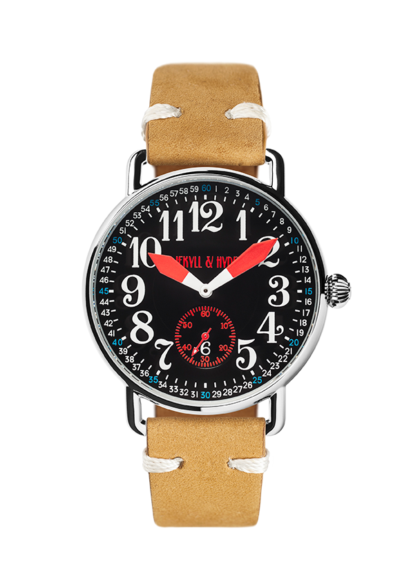 """Unleashed"" black & red Arabic 42 mm"