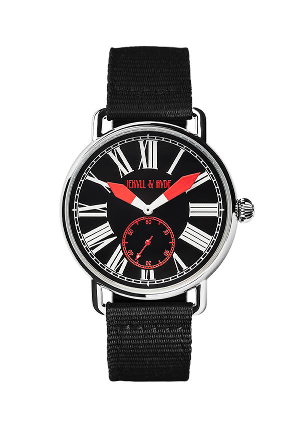 """Unleashed"" black & red Roman 42 mm"