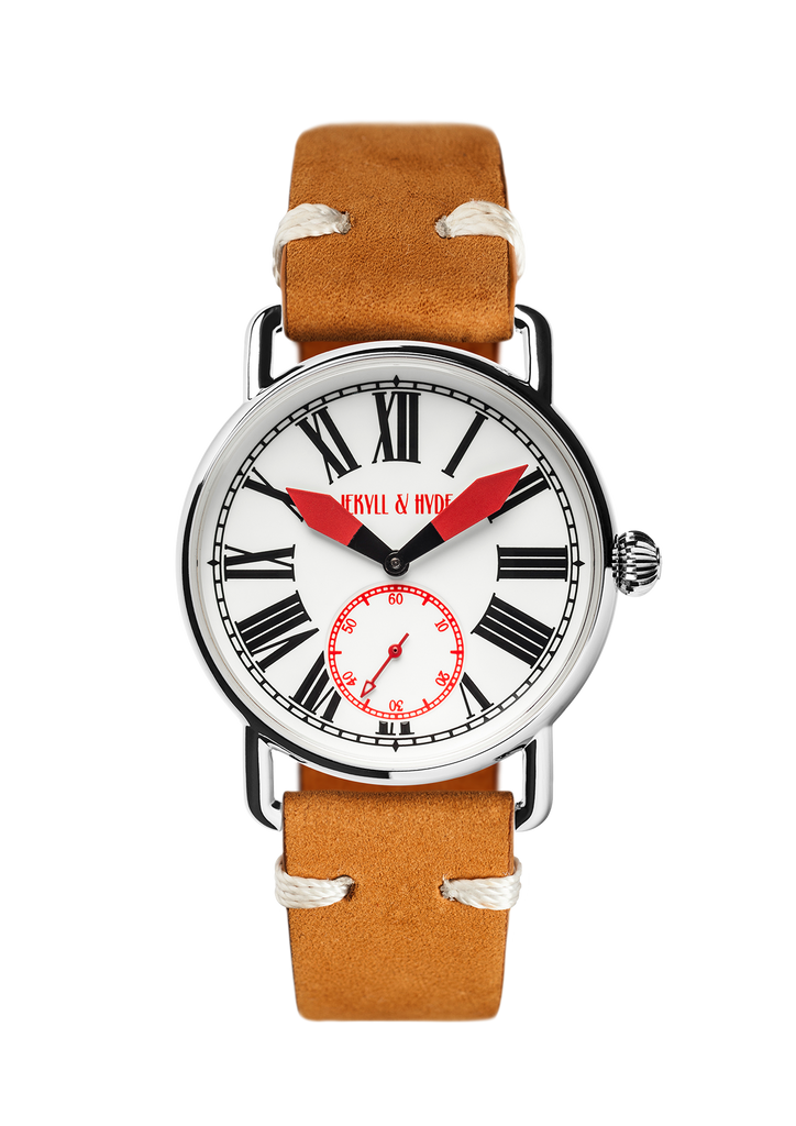 """Unleashed"" white & red Roman 39 mm"