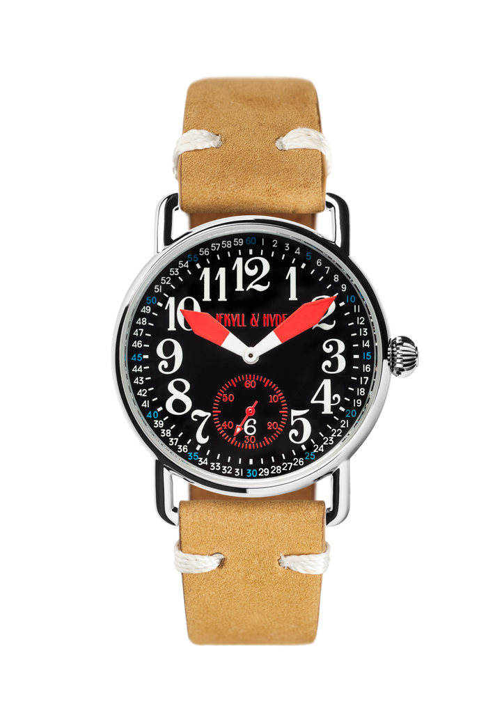 """Unleashed"" black & red Arabic 39 mm"