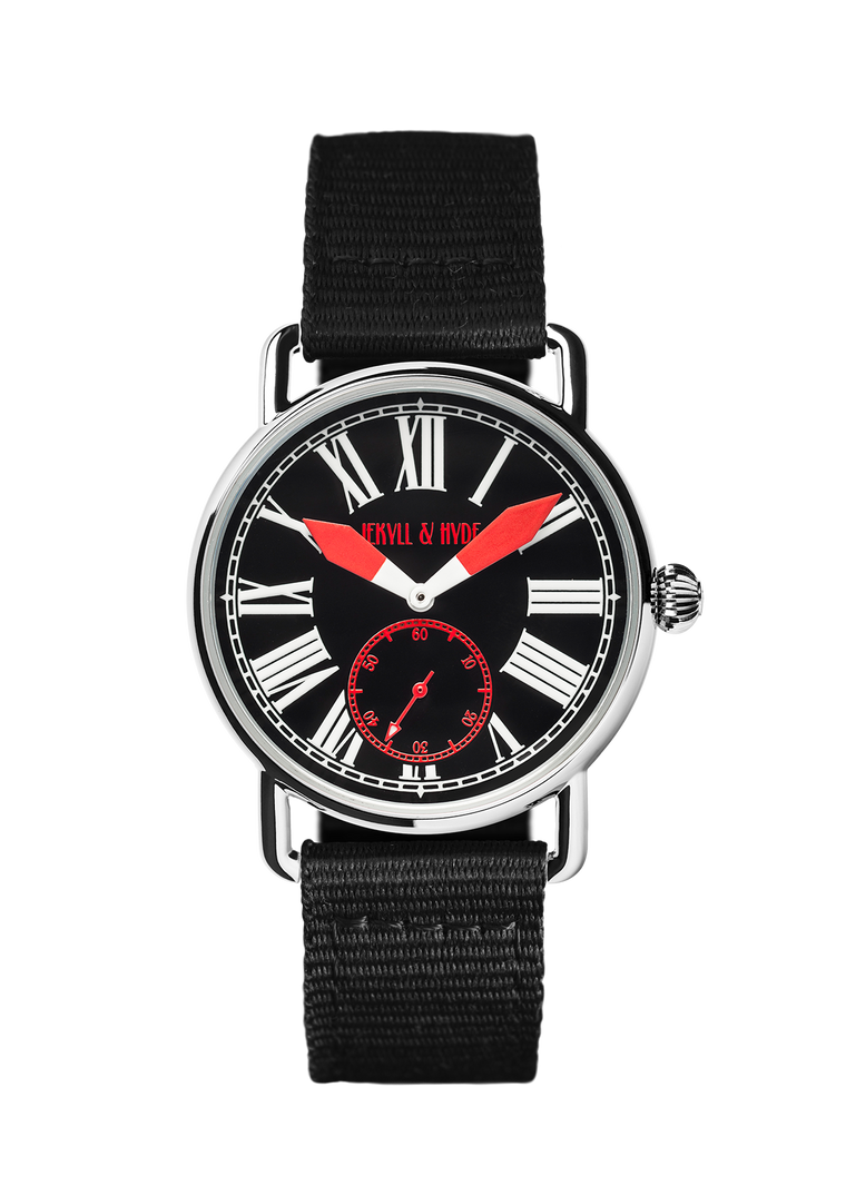"""Unleashed"" black & red Roman 39 mm"