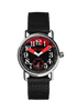 """Bloody"" black & red Arabic 39 mm"