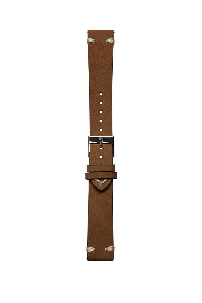 Leather brown strap