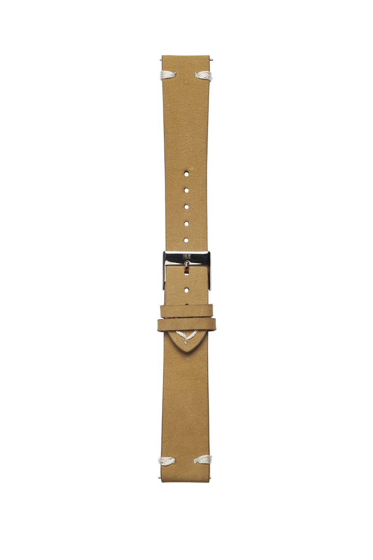 Leather beige strap