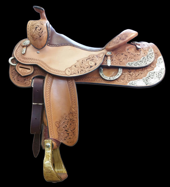 CUSTOM MJ LIGGETT REINING SADDLE - LIKE NEW!!