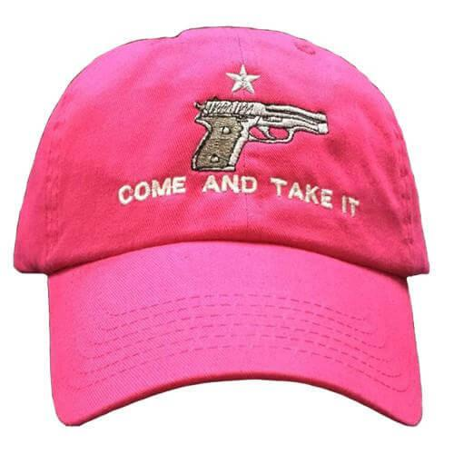 Pink Handgun Come and Take It Cap