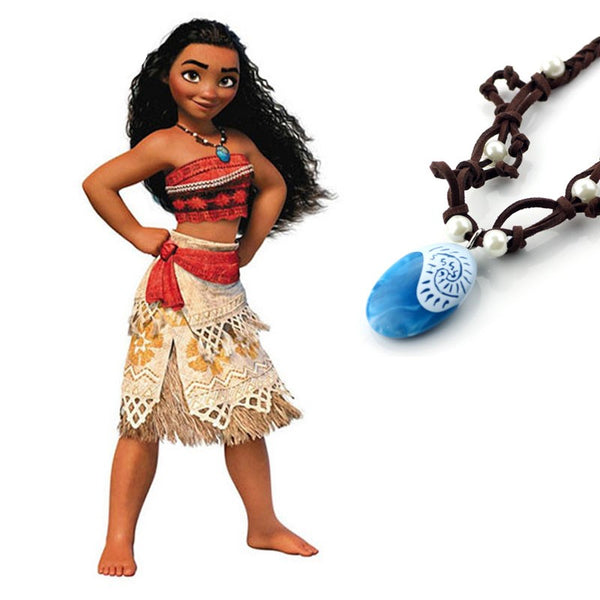 Princess Moana Costume with Necklace
