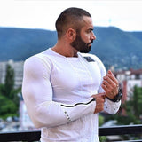 Fitness Round Neck long Sleeve Tshirt