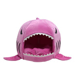 Shark Cat House with Removable Bed Cushion