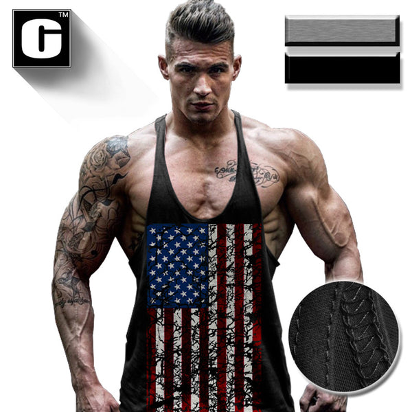 American Flag  men tank top