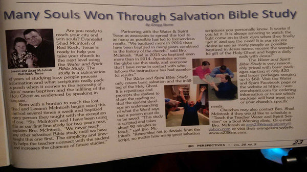 IBC Perspectives Latest Article on the Water & Spirit Bible Study