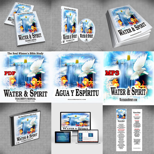 Water & Spirit Everything Deal + 35 Study Guides - Water and Spirit Born Again Bible Study - - 1