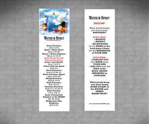 Water & Spirit Soulwinner Special 50 Study Guides + 50 Bookmarks - Water and Spirit Born Again Bible Study - - 2