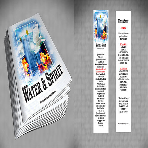 Water & Spirit Soulwinner Special 50 Study Guides + 50 Bookmarks - Water and Spirit Born Again Bible Study - - 1