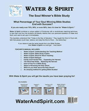 Water & Spirit Teacher's Manual (Digital Download PDF) - Water and Spirit Born Again Bible Study - - 2