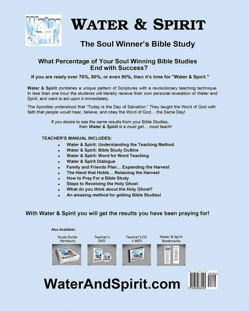 Water and Spirit Born Again Bible Study