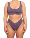 Pico High Waist Bottom-Plum