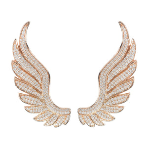 Latelita London Gabriel Angel Wing Ear Climber Rosegold | Unbox Happiness