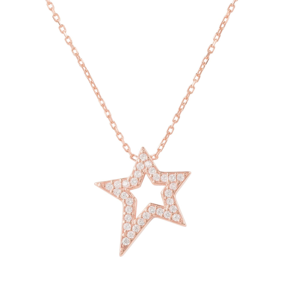 Latelita London Open Star Pendant Necklace Rosegold | Unbox Happiness