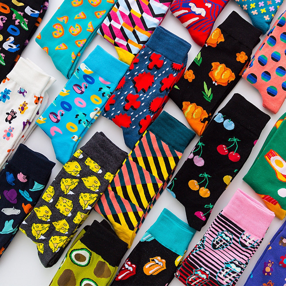Shop Unisex Colourful Pattern Socks Online | Unbox Happiness