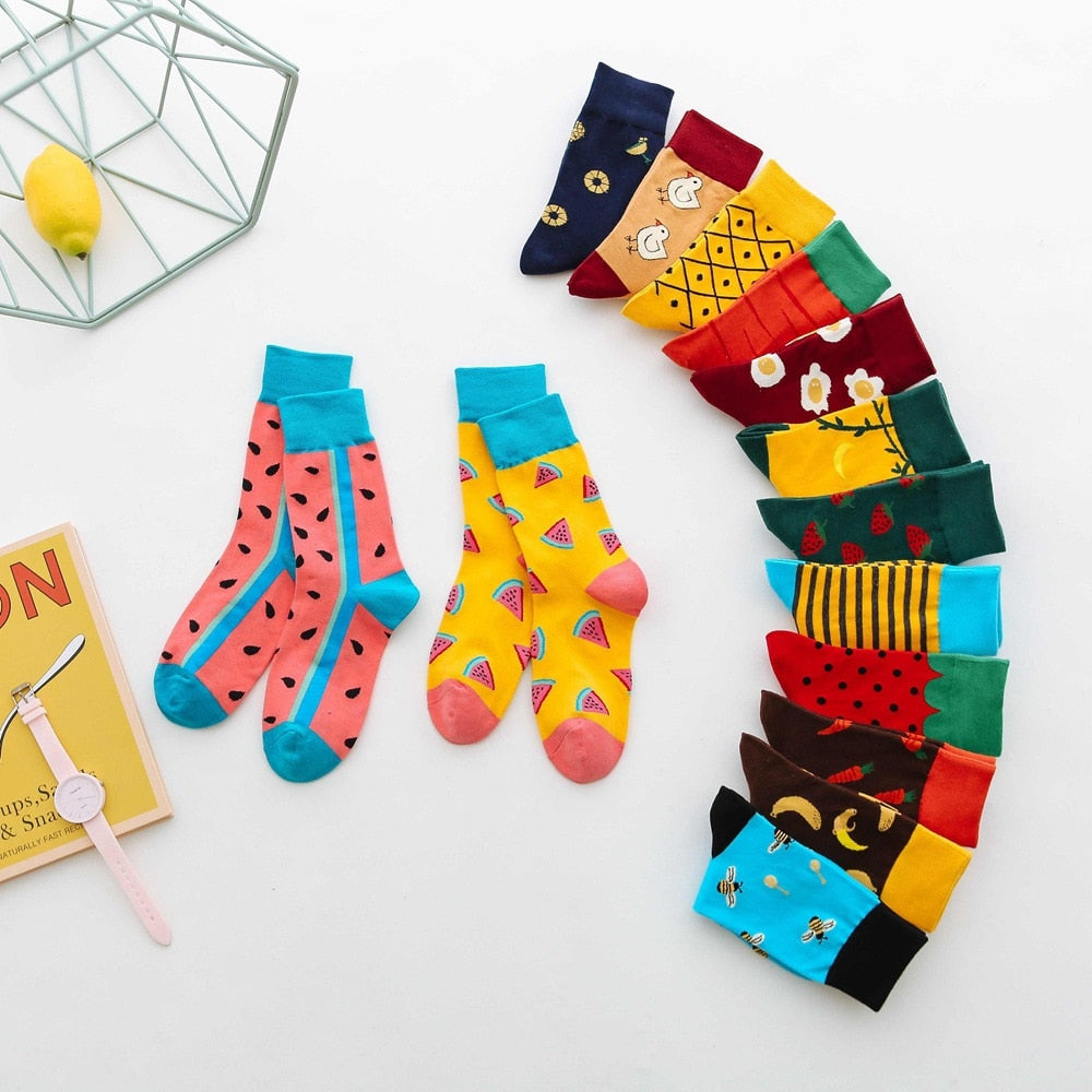 Shop Cute Fresh Fruit Cotton Socks Online | Unbox Happiness