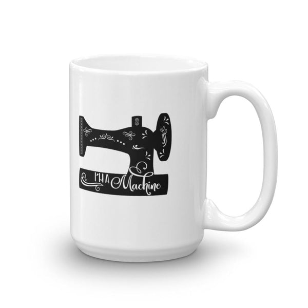 I'm a Machine Vintage Sewing Machine Mug