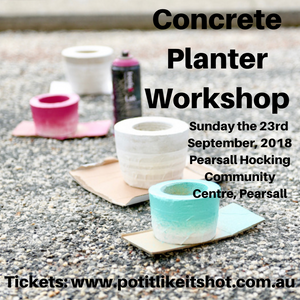 Concrete Planter Workshop - Pearsall (North of the River) - September 2018