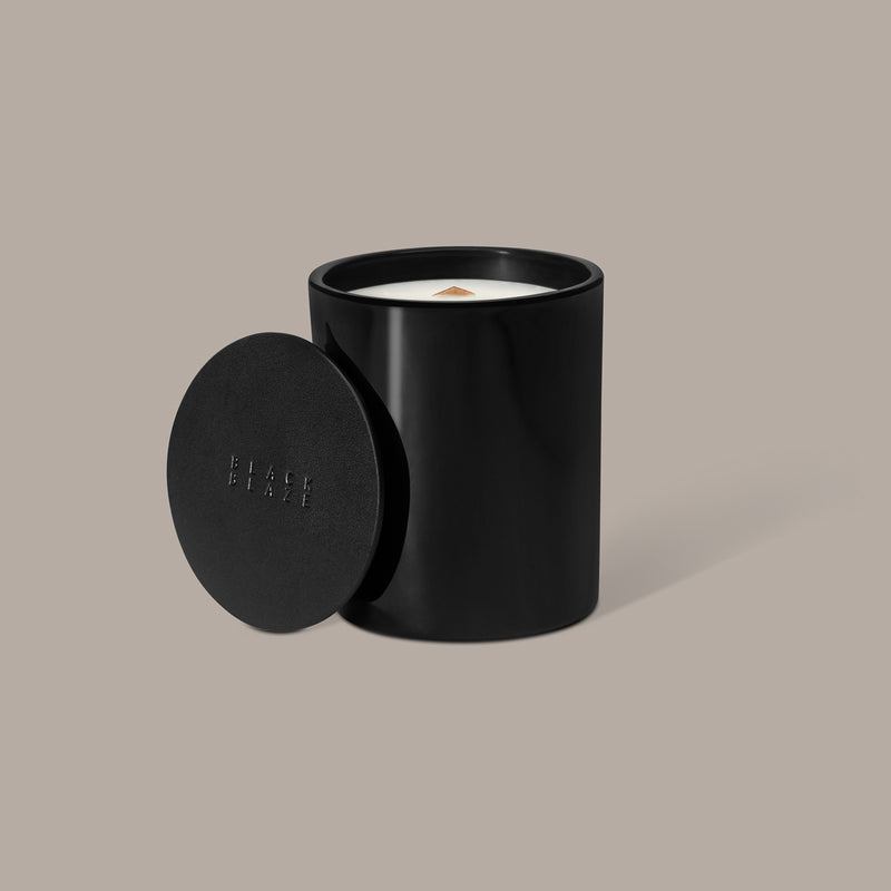 VETIVER & FIG Scented Candle, HOME CANDLE, BLACK BLAZE, BLACK BLAZE - BLACK BLAZE | Scents of Australia | Natural Home Fragrance Label  | Australia's 1St Wooden Wick Candle