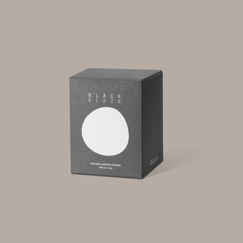 CLARY SAGE Scented Candle, HOME CANDLE, BLACK BLAZE, BLACK BLAZE - BLACK BLAZE | Scents of Australia | Natural Home Fragrance Label  | Australia's 1St Wooden Wick Candle