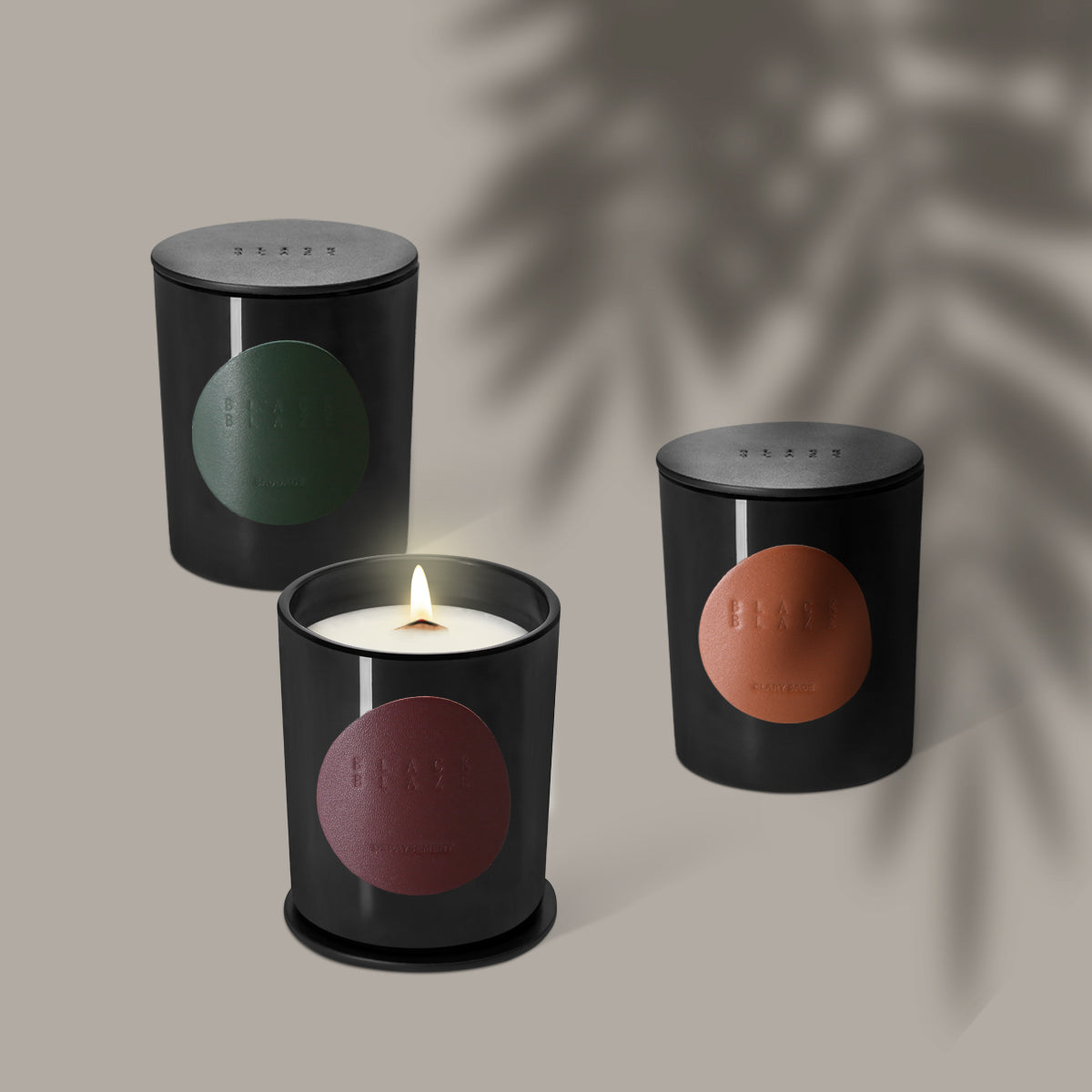 LODESTARS Scented Candle, HOME CANDLE, BLACK BLAZE, BLACK BLAZE - BLACK BLAZE | Scents of Australia | Natural Home Fragrance Label  | Australia's 1St Wooden Wick Candle