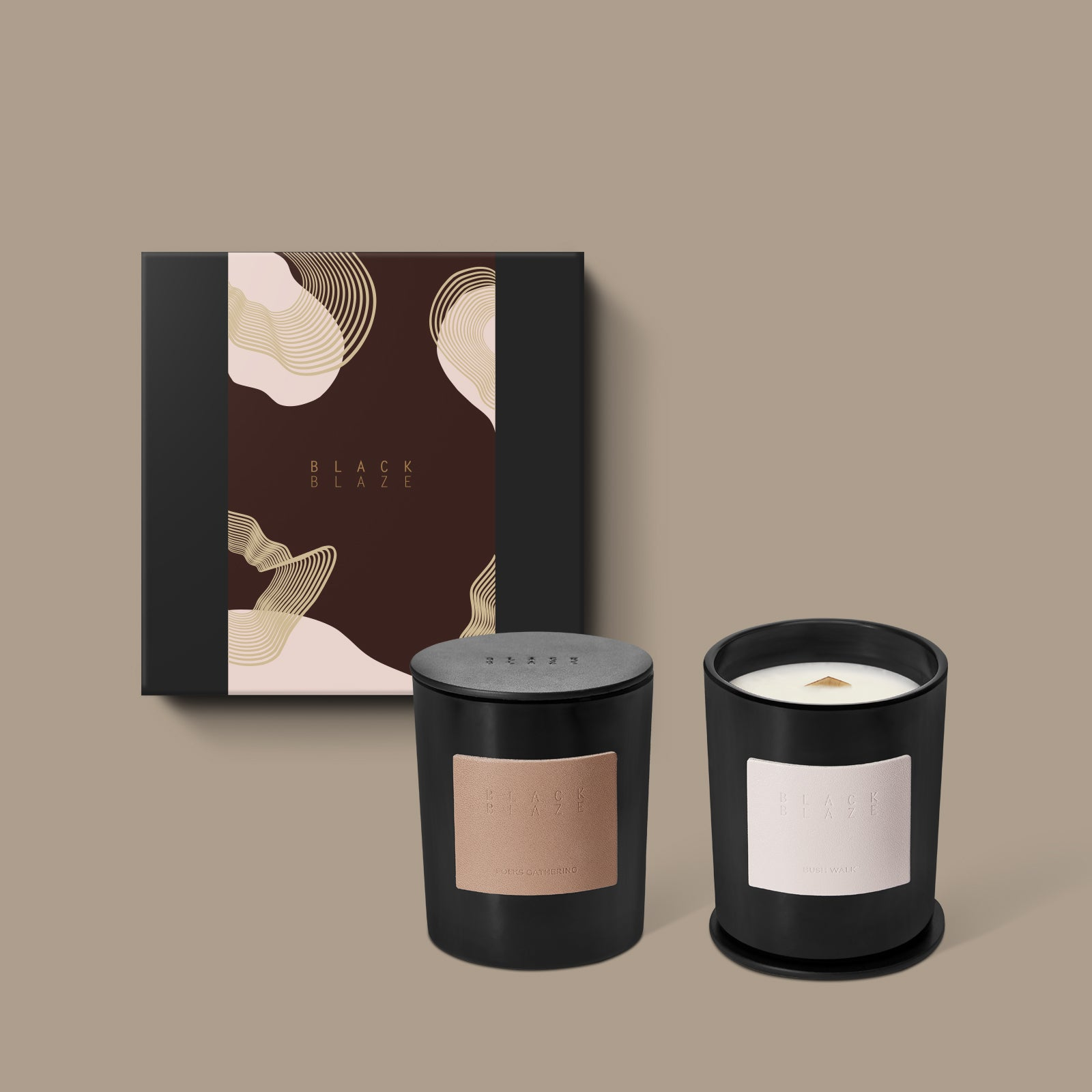Candle Duo Kit, Gift Kit, BLACK BLAZE, BLACK BLAZE - BLACK BLAZE | Scents of Australia | Natural Home Fragrance Label  | Australia's 1St Wooden Wick Candle