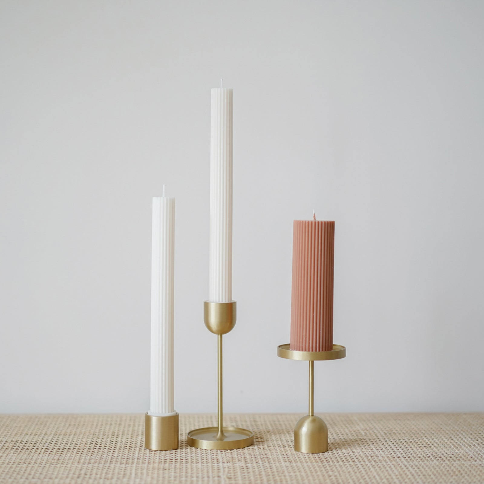 Fountain Brass Candle Holder-Medium