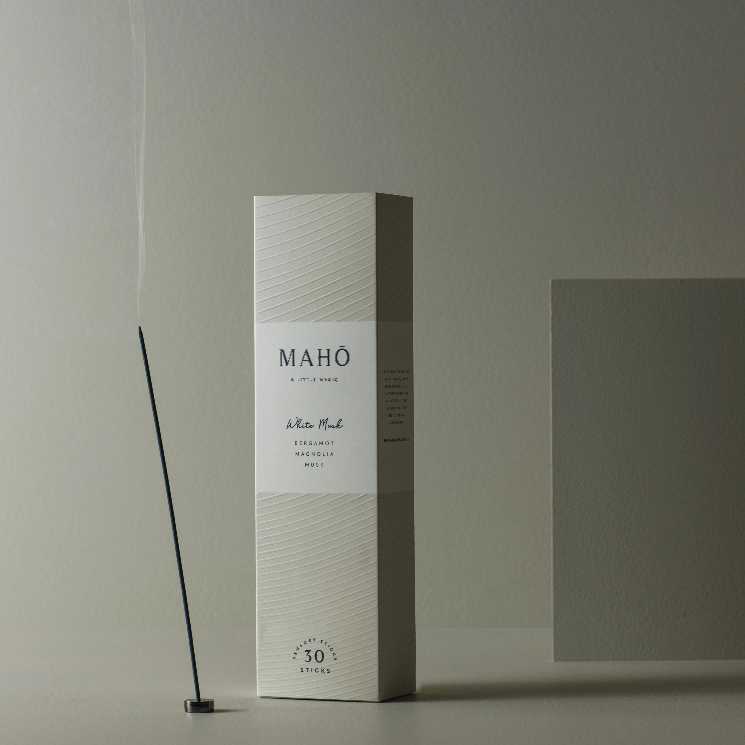 MAHŌ Sensory Sticks - White Musk, Homeware, MAHŌ, BLACK BLAZE - BLACK BLAZE | Scents of Australia | Natural Home Fragrance Label  | Australia's 1St Wooden Wick Candle