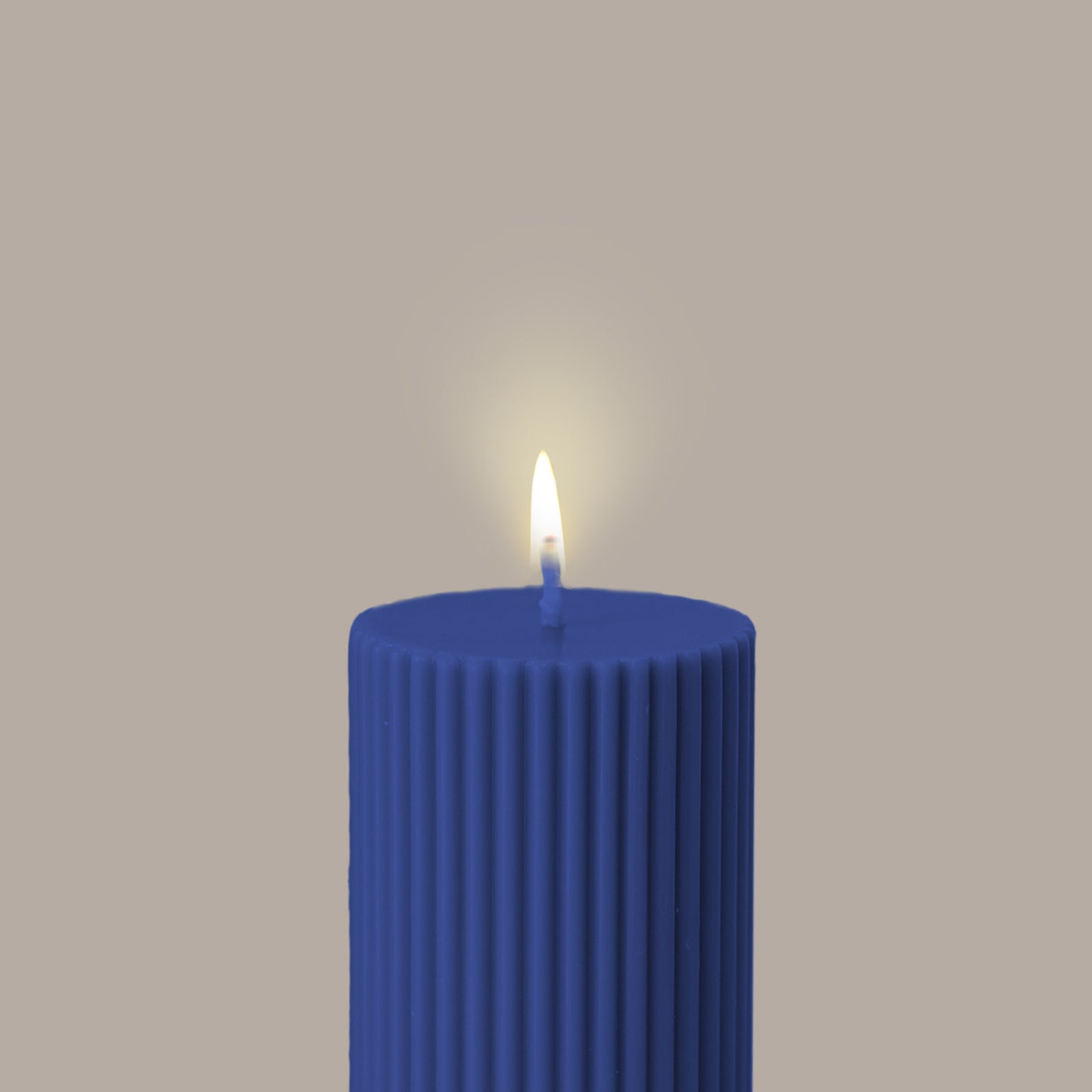 Wide Column Pillar Candle - Blue