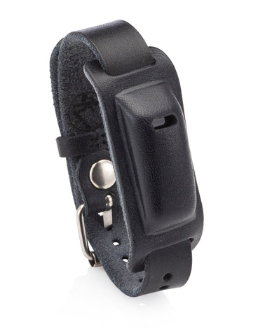 Leather Band for Use with Fitbit Flex Wristband with Watch Style Closure- Compatible as Fitbit Flex Replacement Band. (Black)