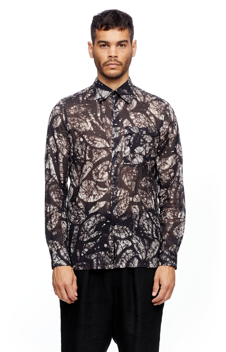 Black Leaf Long Sleeve Shirt