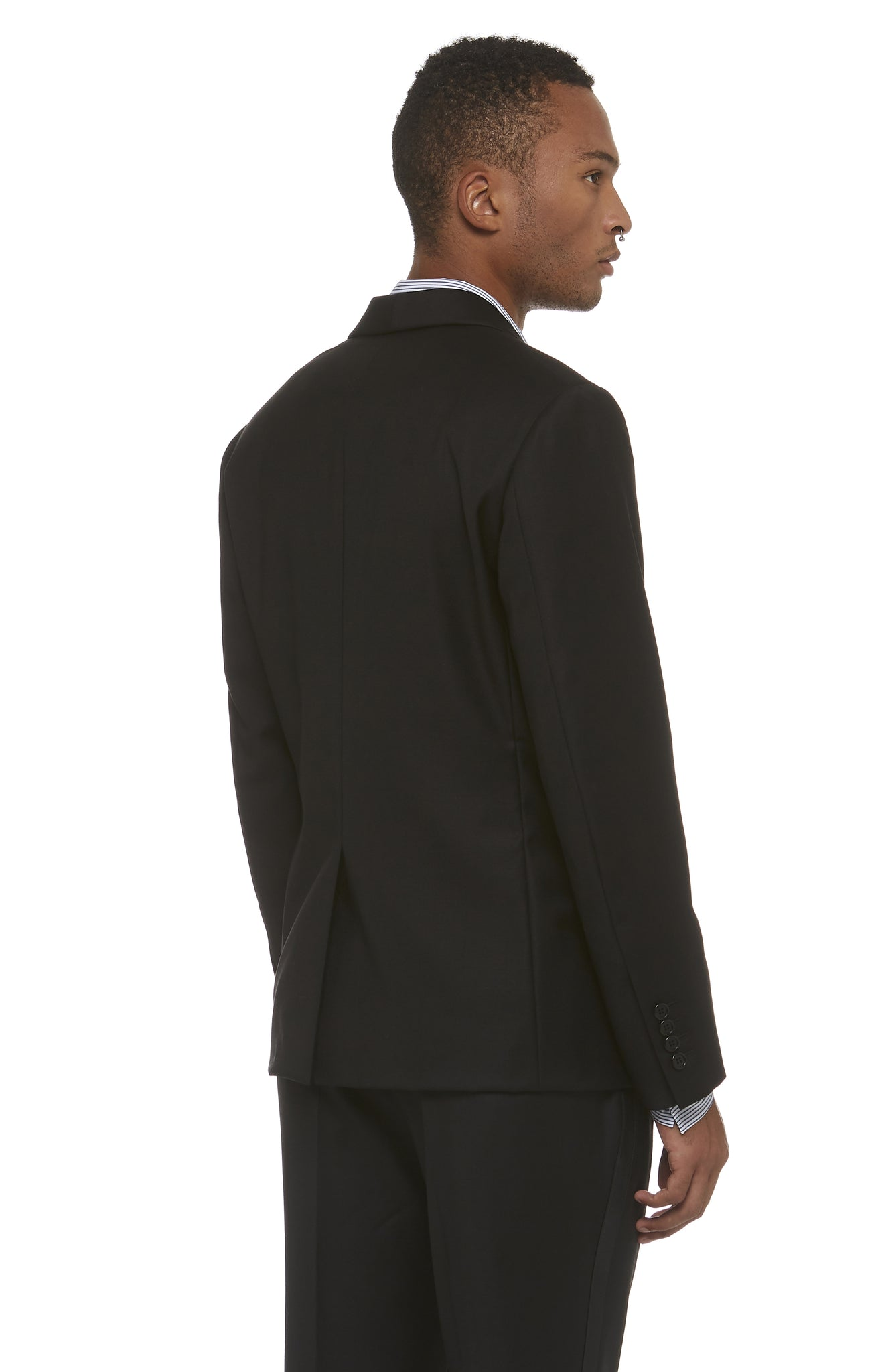Black Wool DB Blazer