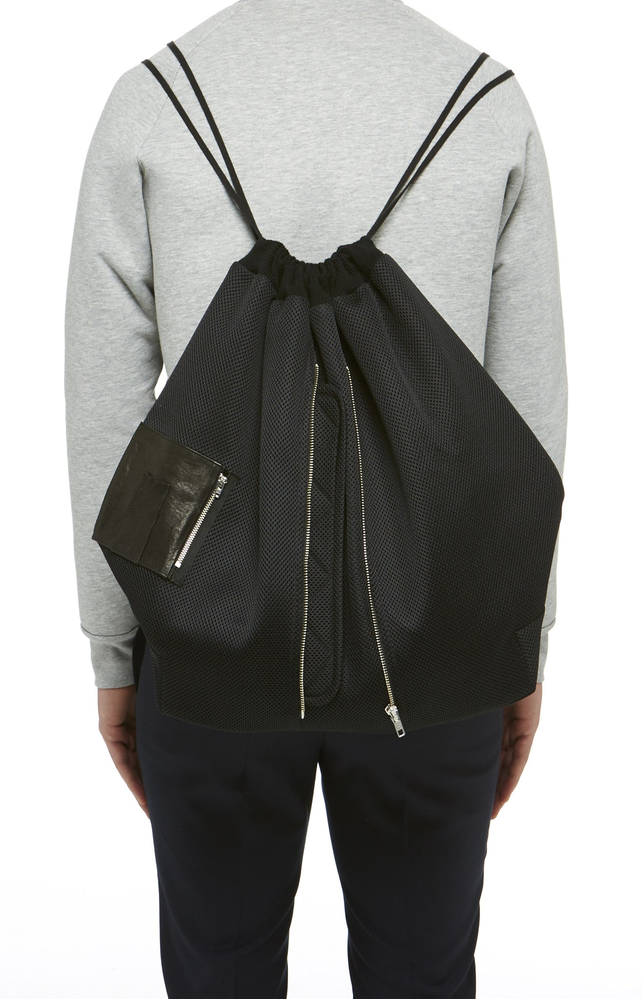 Black Technical Knit Backpack