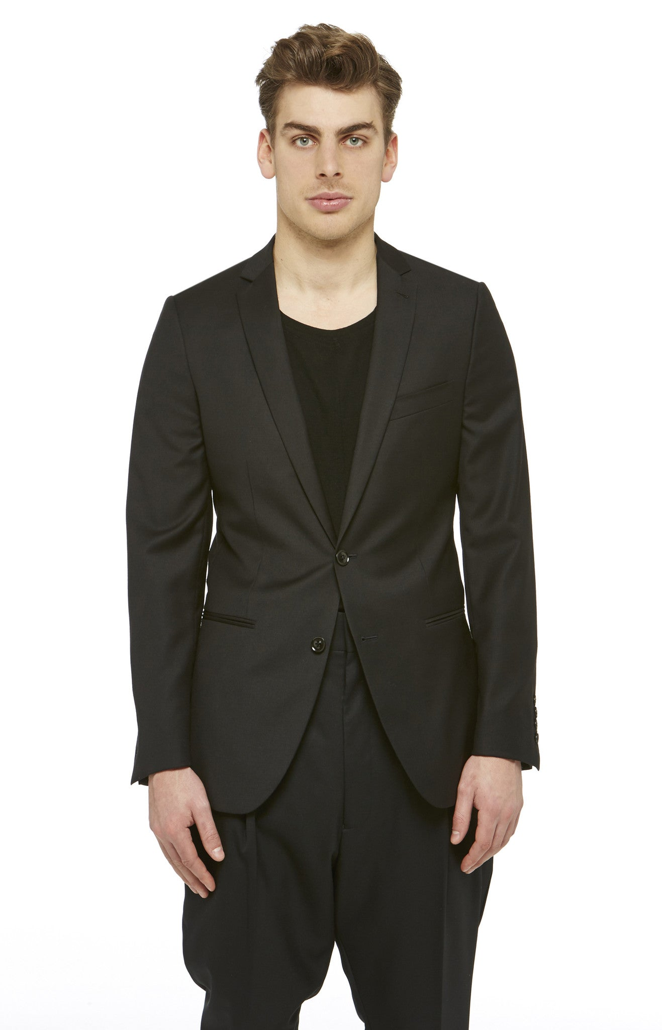 Black Two-Button Blazer
