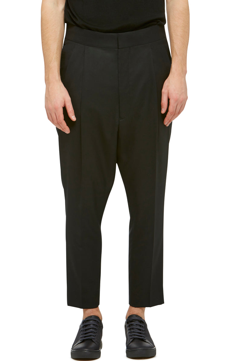 Black Drop Crotch Trouser