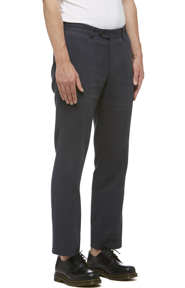 Black Cotton Grunge Wash Trouser