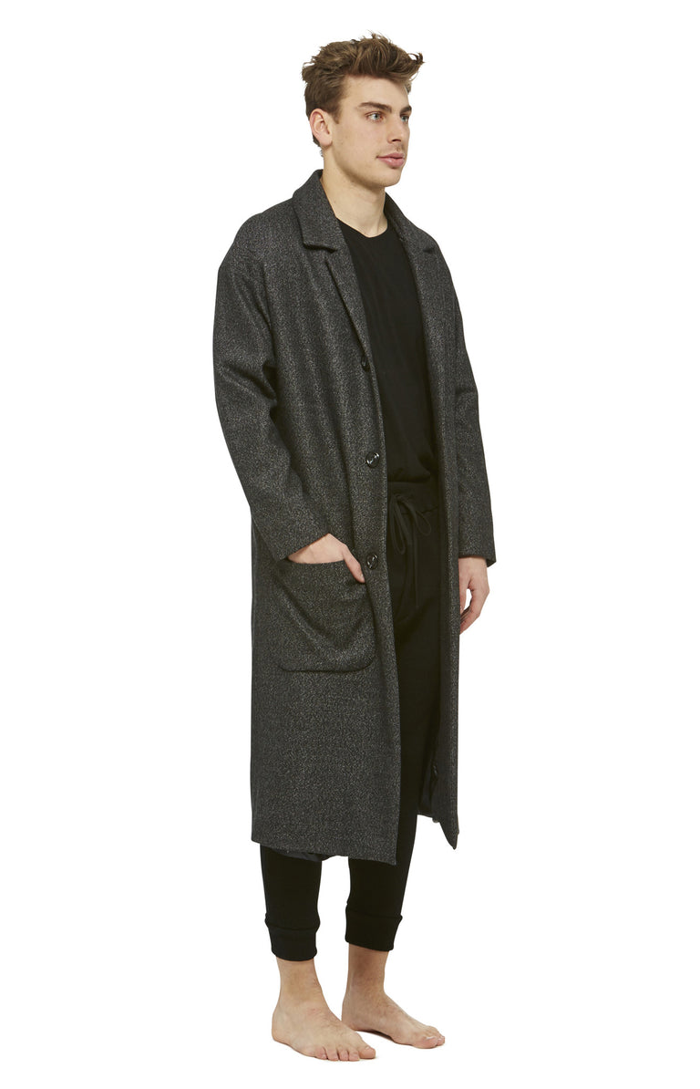 Grey Wool Lab Coat