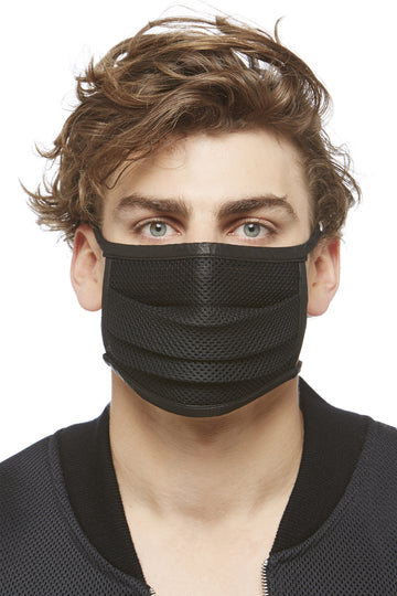 Black Technical Knit Surgeon's Mask
