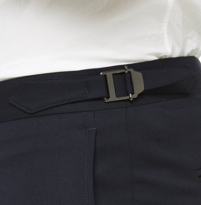 Navy Wool Trouser