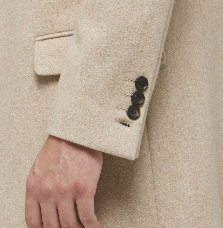 Oatmeal Wool Overcoat