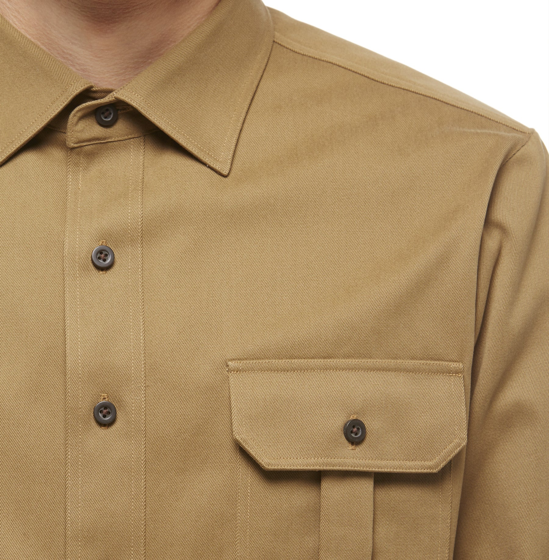 Khaki Cotton Shacket