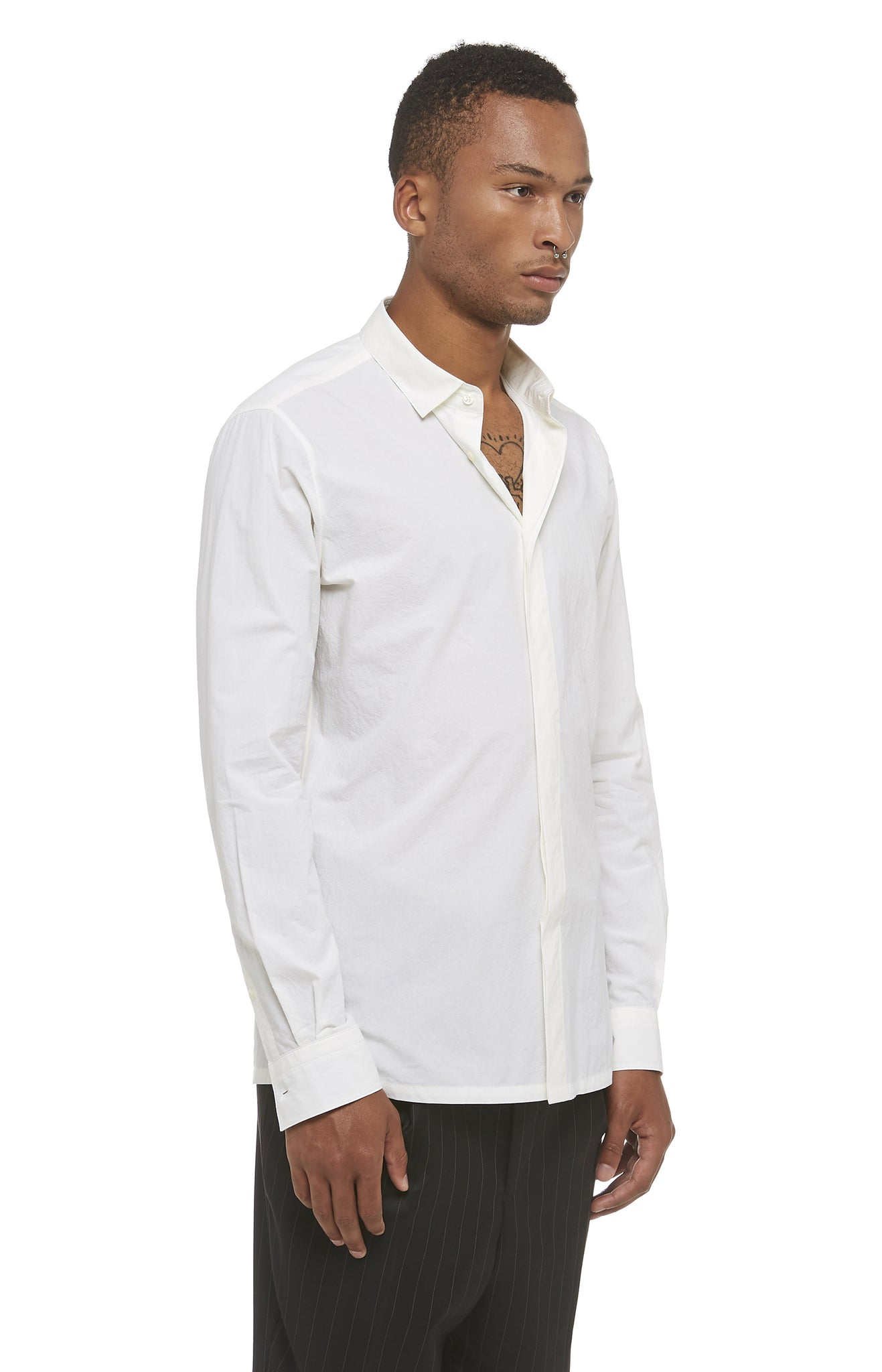 White Cotton Tempiboshi Shirt
