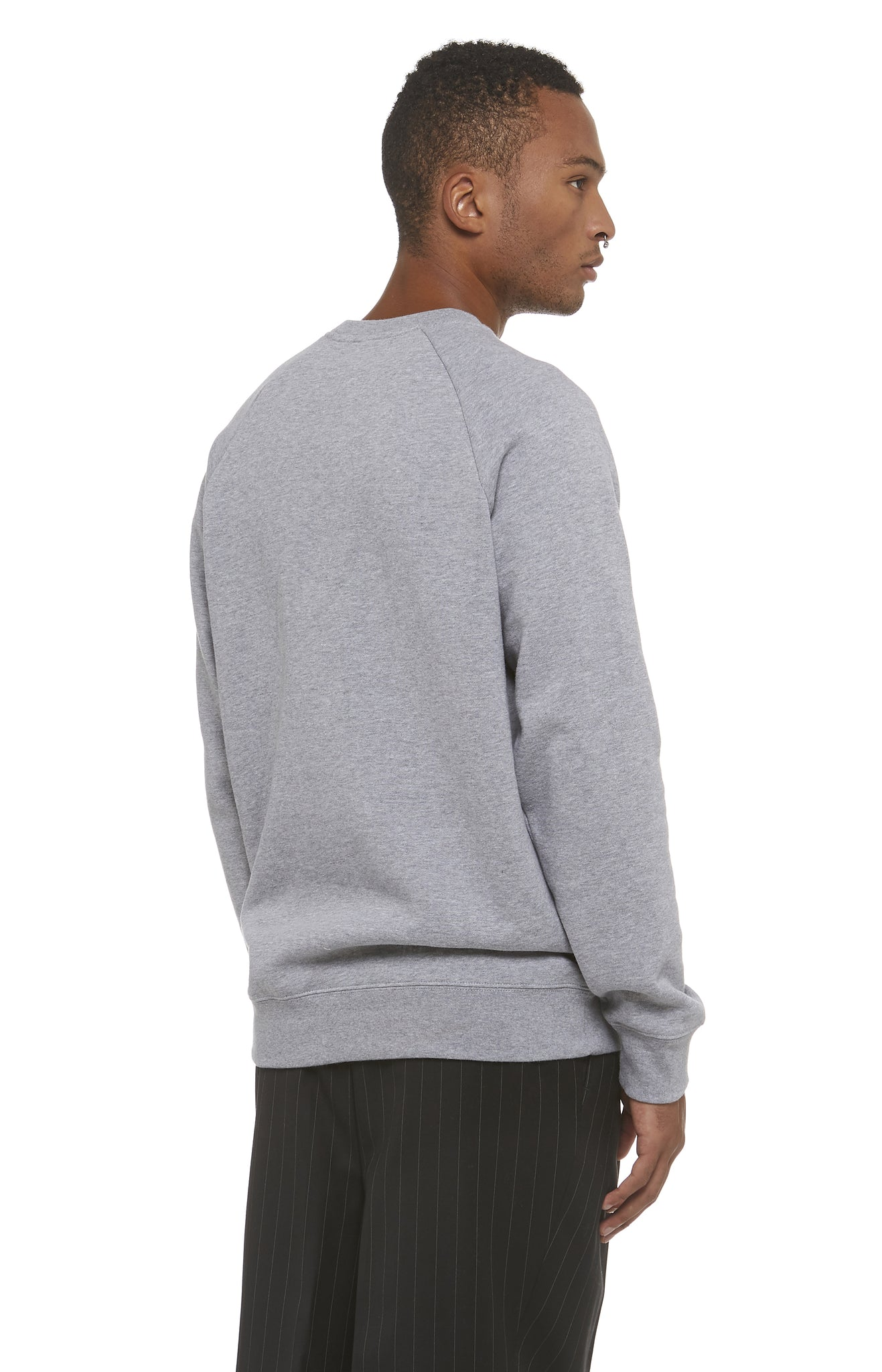 Grey Braille Logo Sweatshirt