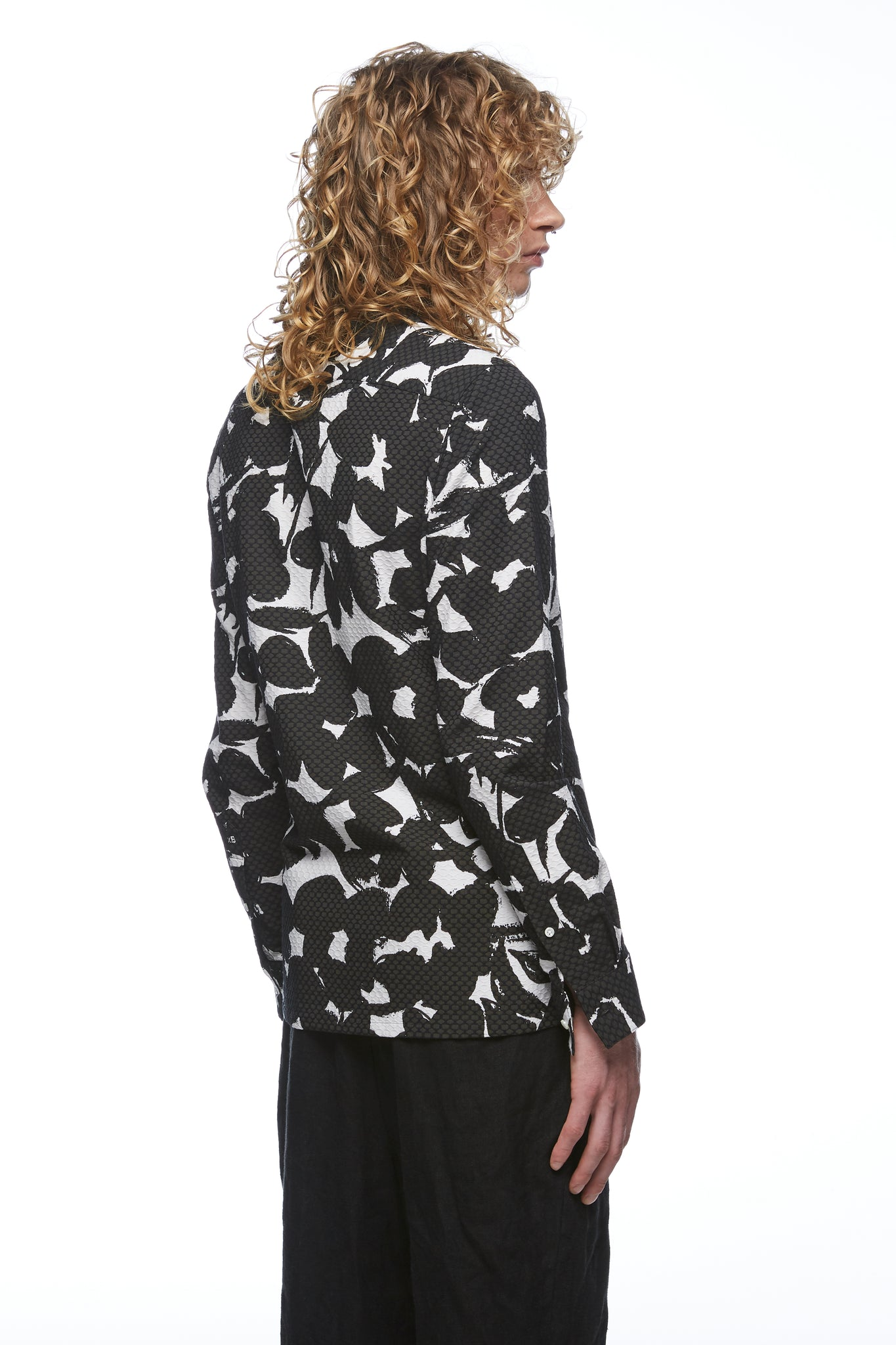 Jacquard Long Sleeve Shirt