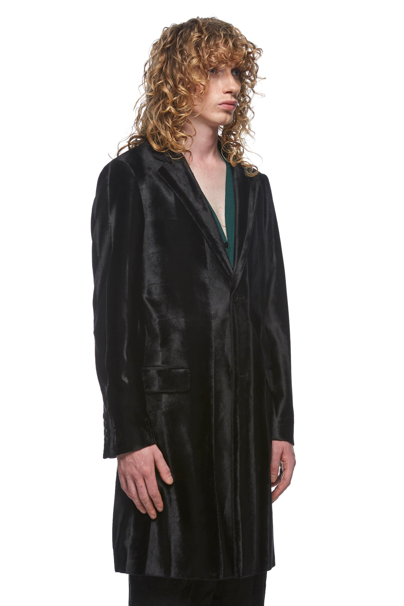 Pony Single Breasted Overcoat